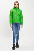 Оптом Стеганная куртка зеленого цвета 33310Z в Екатеринбурге, фото 2