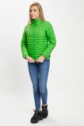 Оптом Стеганная куртка зеленого цвета 33310Z в Екатеринбурге, фото 3