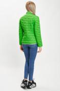 Оптом Стеганная куртка зеленого цвета 33310Z в Екатеринбурге, фото 4