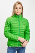Оптом Стеганная куртка зеленого цвета 33310Z в Екатеринбурге, фото 7