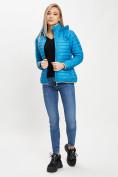 Оптом Стеганная куртка синего цвета 33315S в Екатеринбурге, фото 3