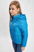 Оптом Стеганная куртка синего цвета 33315S в Екатеринбурге, фото 14