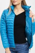 Оптом Стеганная куртка синего цвета 33315S в Екатеринбурге, фото 15