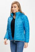 Оптом Стеганная куртка синего цвета 33315S в Екатеринбурге, фото 4