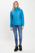 Оптом Стеганная куртка синего цвета 33315S в Екатеринбурге, фото 2