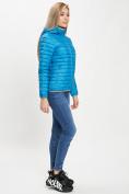 Оптом Стеганная куртка синего цвета 33315S в Екатеринбурге, фото 5