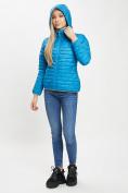 Оптом Стеганная куртка синего цвета 33315S в Екатеринбурге, фото 8