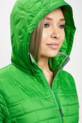 Оптом Стеганная куртка зеленого цвета 33315Z в Екатеринбурге, фото 8