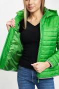 Оптом Стеганная куртка зеленого цвета 33315Z в Екатеринбурге, фото 11