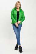 Оптом Стеганная куртка зеленого цвета 33315Z в Екатеринбурге, фото 4
