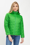 Оптом Стеганная куртка зеленого цвета 33315Z в Екатеринбурге