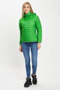 Оптом Стеганная куртка зеленого цвета 33315Z в Екатеринбурге, фото 5