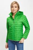 Оптом Стеганная куртка зеленого цвета 33315Z в Екатеринбурге, фото 6