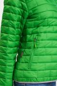 Оптом Стеганная куртка зеленого цвета 33315Z в Екатеринбурге, фото 9