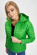 Оптом Стеганная куртка зеленого цвета 33315Z в Екатеринбурге, фото 2