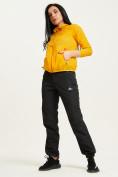Оптом Ветровка спортивная Valianly женская желтого цвета 33417J в Екатеринбурге, фото 9