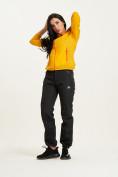 Оптом Ветровка спортивная Valianly женская желтого цвета 33417J в Екатеринбурге, фото 10