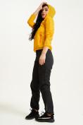 Оптом Ветровка спортивная Valianly женская желтого цвета 33417J в Екатеринбурге, фото 11