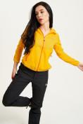 Оптом Ветровка спортивная Valianly женская желтого цвета 33417J в Екатеринбурге, фото 2