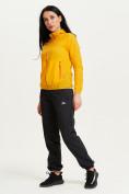 Оптом Ветровка спортивная Valianly женская желтого цвета 33417J в Екатеринбурге, фото 4