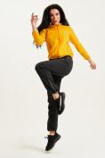 Оптом Ветровка спортивная Valianly женская желтого цвета 33417J в Екатеринбурге, фото 7