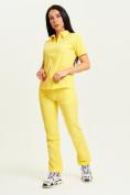Оптом Спортивные брюки Valianly женские желтого цвета 33419J в Екатеринбурге, фото 10