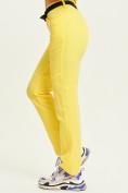 Оптом Спортивные брюки Valianly женские желтого цвета 33419J в Екатеринбурге, фото 4