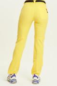 Оптом Спортивные брюки Valianly женские желтого цвета 33419J в Екатеринбурге, фото 6