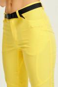 Оптом Спортивные брюки Valianly женские желтого цвета 33419J в Екатеринбурге, фото 9