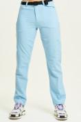 Оптом Спортивные брюки Valianly женские голубого цвета 33419Gl, фото 2
