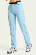 Оптом Спортивные брюки Valianly женские голубого цвета 33419Gl