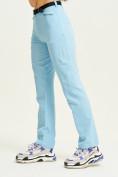 Оптом Спортивные брюки Valianly женские голубого цвета 33419Gl, фото 3