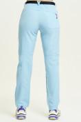 Оптом Спортивные брюки Valianly женские голубого цвета 33419Gl, фото 5