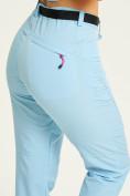 Оптом Спортивные брюки Valianly женские голубого цвета 33419Gl, фото 6