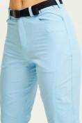 Оптом Спортивные брюки Valianly женские голубого цвета 33419Gl, фото 7