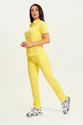 Оптом Спортивные брюки Valianly женские желтого цвета 33419J в Екатеринбурге, фото 13