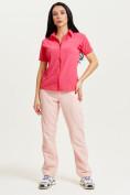 Оптом Спортивные брюки Valianly женские розового цвета 33419R в Екатеринбурге, фото 11