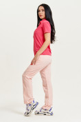 Оптом Спортивные брюки Valianly женские розового цвета 33419R в Екатеринбурге, фото 9