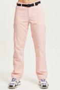Оптом Спортивные брюки Valianly женские розового цвета 33419R в Екатеринбурге