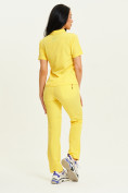 Оптом Спортивные брюки Valianly женские желтого цвета 33419J в Екатеринбурге, фото 14