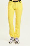Оптом Спортивные брюки Valianly женские желтого цвета 33419J в Екатеринбурге, фото 2