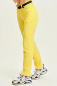 Оптом Спортивные брюки Valianly женские желтого цвета 33419J в Екатеринбурге, фото 3