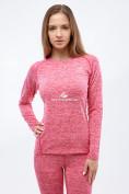 Оптом Термобелье женское розового цвета 3478R, фото 2
