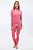 Оптом Термобелье женское розового цвета 3478R