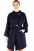 Оптом Пальто женское темно-синего цвета 380TS в Екатеринбурге, фото 3