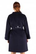 Оптом Пальто женское темно-синего цвета 380TS в Екатеринбурге, фото 2
