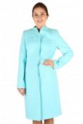 Оптом Пальто женское голубого цвета 391Gl, фото 3