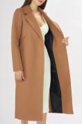Оптом Пальто демисезонное коричневого цвета 42105K в Екатеринбурге, фото 10