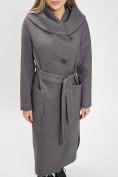 Оптом Пальто демисезонное серого цвета 42107Sr в Екатеринбурге, фото 8