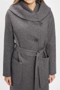 Оптом Пальто демисезонное серого цвета 42107Sr в Екатеринбурге, фото 9